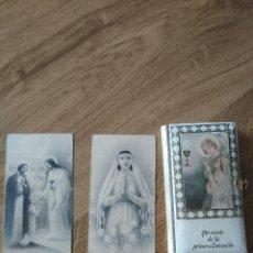 Libros antiguos: RECUERDO DE LA PRIMERA COMUNION DOS HERMANOS DE ELDA PARROQUIA DE SANTA ANA. Lote 194995370