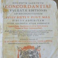 Libros antiguos: BIBLIORUM SACRORUM CONCORDANTIAE VULGATAE EDITIONIS. VENECÍA, 1618. FOLIO. BIBLIA.. Lote 195009536