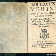 Libros antiguos: NUMULITE L1241 MICHAELIS VERINI POËTAE CHRISTIANISSIMI AC JOANNIS SULPITTI GERONA GIRONA . Lote 195021398
