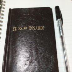 Libros antiguos: SSMO.ROSARIO TAPA PIEL ILUSTRACIONES COLOR. Lote 195045653