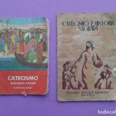 Libros antiguos: DOS ANTIGUOS CATECISMOS AÑOS 41 Y 58 RESPECTIVAMENTE PRIMER Y SEGUNDO GRADO. Lote 195191875