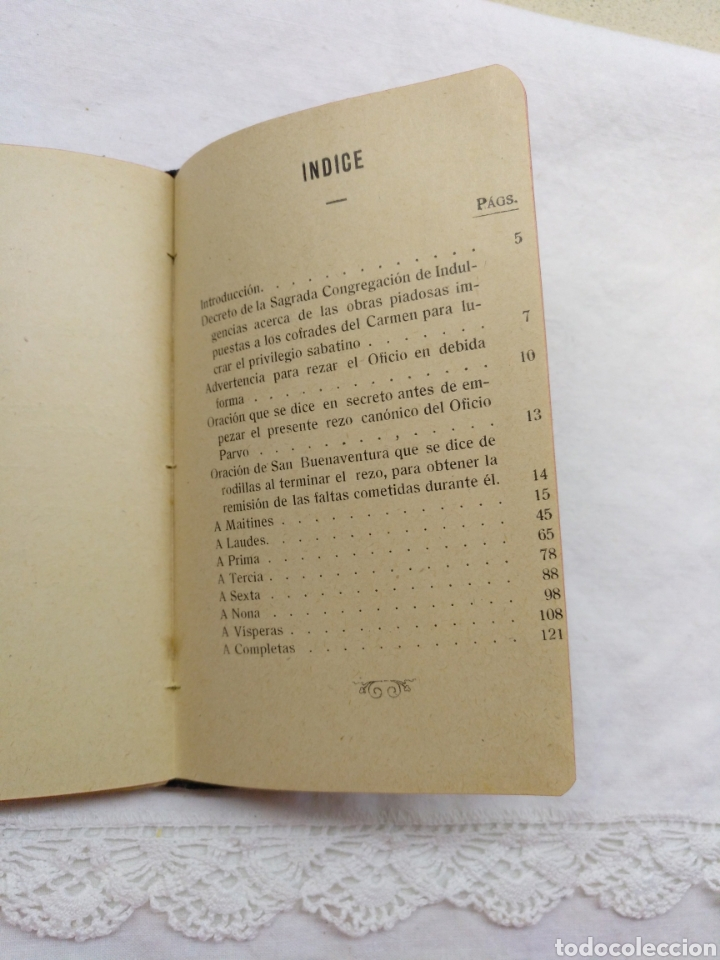 Libros antiguos: OFICIO PARVO CARMELITANO 1915 - Foto 3 - 195222782