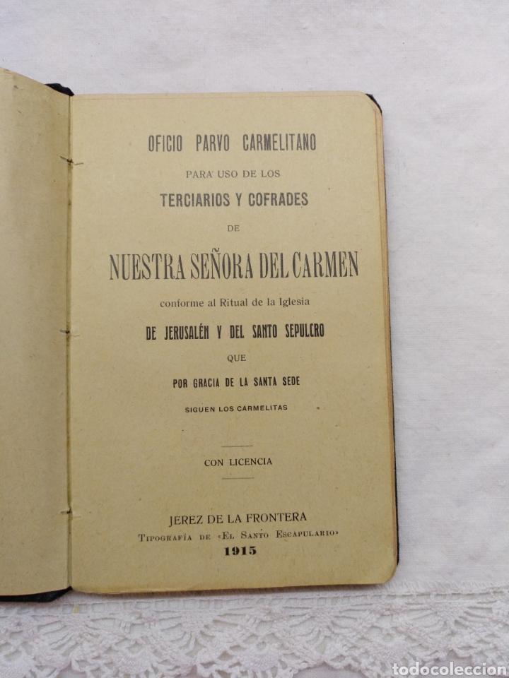 Libros antiguos: OFICIO PARVO CARMELITANO 1915 - Foto 5 - 195222782