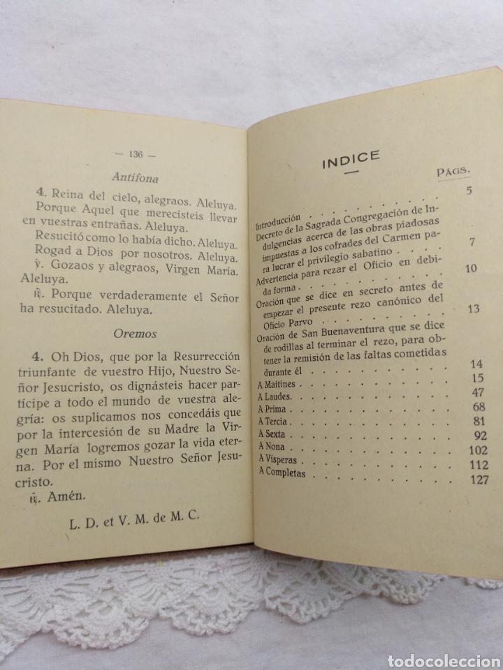 Libros antiguos: OFICIO PARVO CARMELITANO 1929 - Foto 2 - 195223283