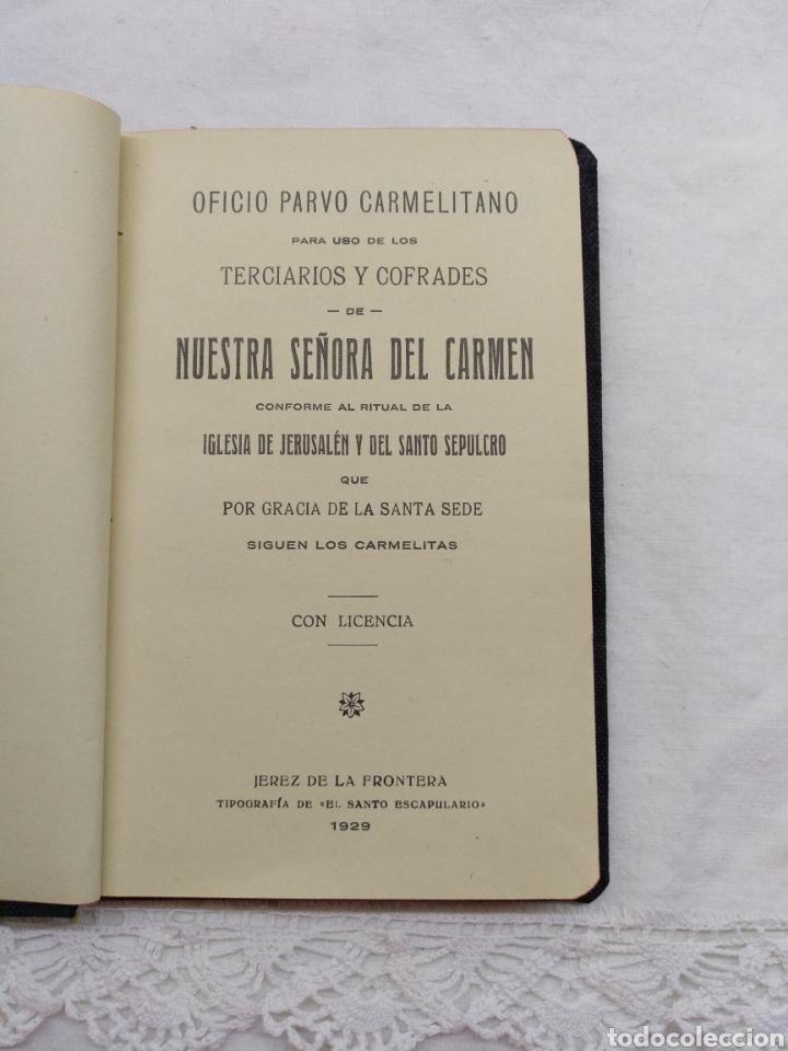 Libros antiguos: OFICIO PARVO CARMELITANO 1929 - Foto 3 - 195223283
