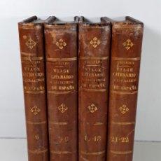 Libros antiguos: VIAGE LITERARIO A LAS IGLESIAS DE ESPAÑA. 7 TOMOS EN 4 VOLUM. VARIAS EDITORIALES. 1821/51.. Lote 195289771