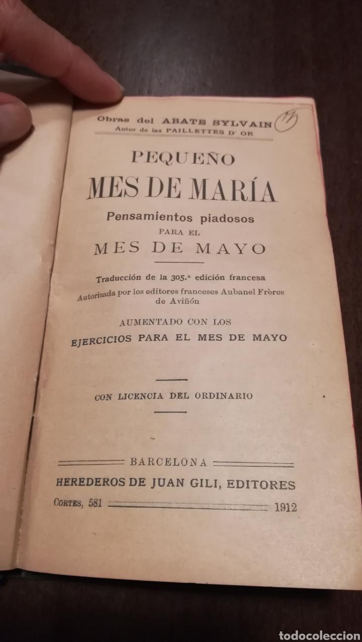 Libros antiguos: Pequeño mes de Maria. Librito de 1912. - Foto 2 - 195334275