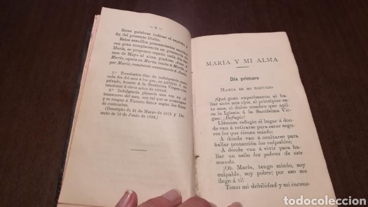 Libros antiguos: Pequeño mes de Maria. Librito de 1912. - Foto 3 - 195334275
