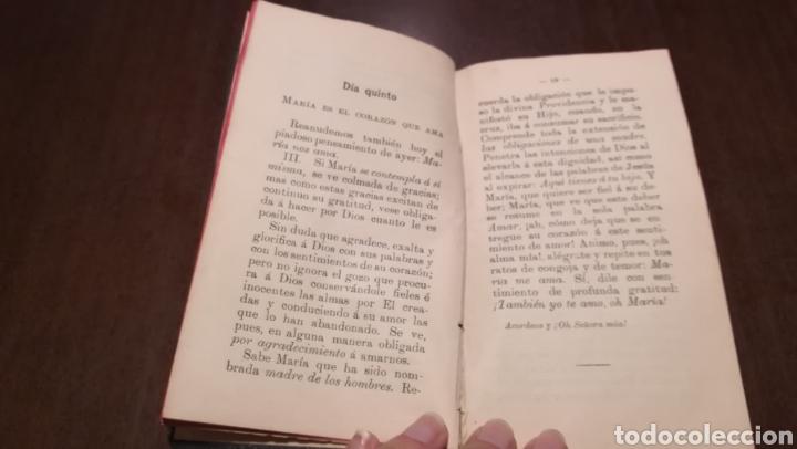 Libros antiguos: Pequeño mes de Maria. Librito de 1912. - Foto 4 - 195334275