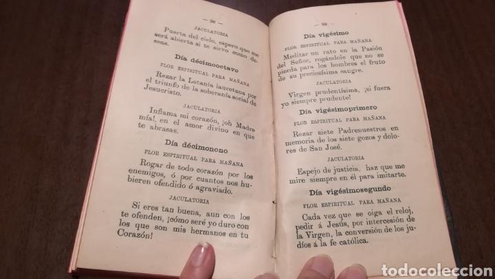 Libros antiguos: Pequeño mes de Maria. Librito de 1912. - Foto 5 - 195334275