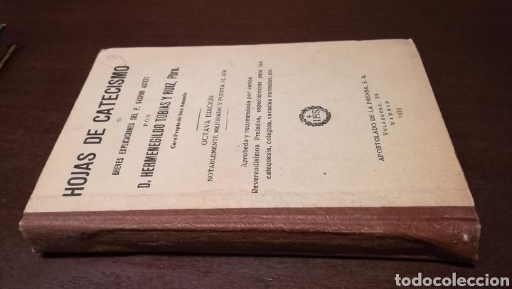 HOJAS DE CATECISMO. LIBRO DE 1935. (Libros Antiguos, Raros y Curiosos - Religión)