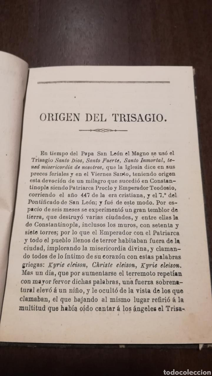 Libros antiguos: Trisagio en honor, gloria y alabanza de la Santísima Trinidad. Libro de 1886. - Foto 3 - 195337887