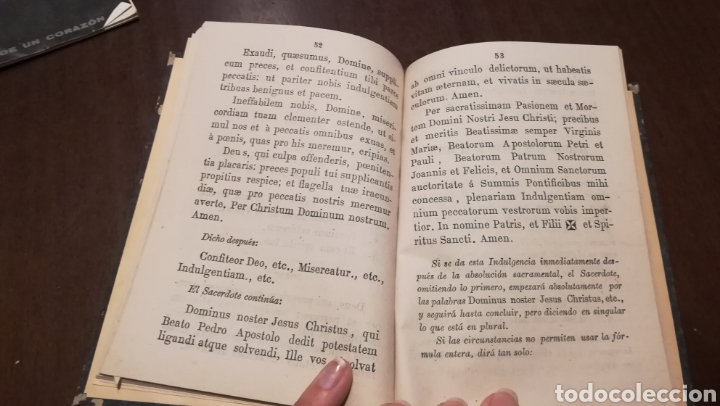 Libros antiguos: Trisagio en honor, gloria y alabanza de la Santísima Trinidad. Libro de 1886. - Foto 5 - 195337887