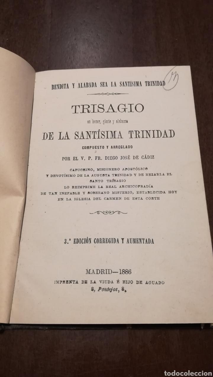 TRISAGIO EN HONOR, GLORIA Y ALABANZA DE LA SANTÍSIMA TRINIDAD. LIBRO DE 1886. (Libros Antiguos, Raros y Curiosos - Religión)