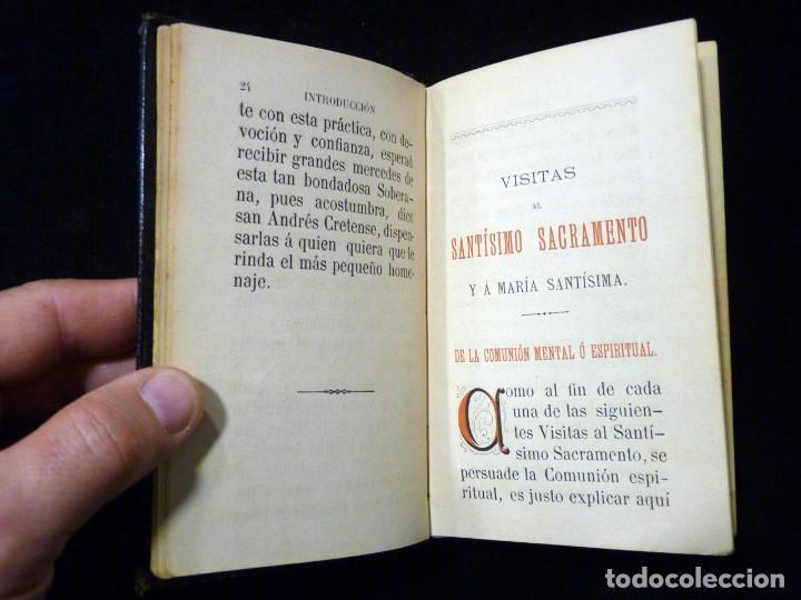 Libros antiguos: VISITAS AL SANTÍSIMO SACRAMENTO. ALFONSO M. DE LIGORIO. LLORENS HERMANOS, BARCELONA, CIRCA 1880 - Foto 9 - 195354150