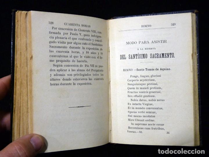 Libros antiguos: VISITAS AL SANTÍSIMO SACRAMENTO. ALFONSO M. DE LIGORIO. LLORENS HERMANOS, BARCELONA, CIRCA 1880 - Foto 13 - 195354150