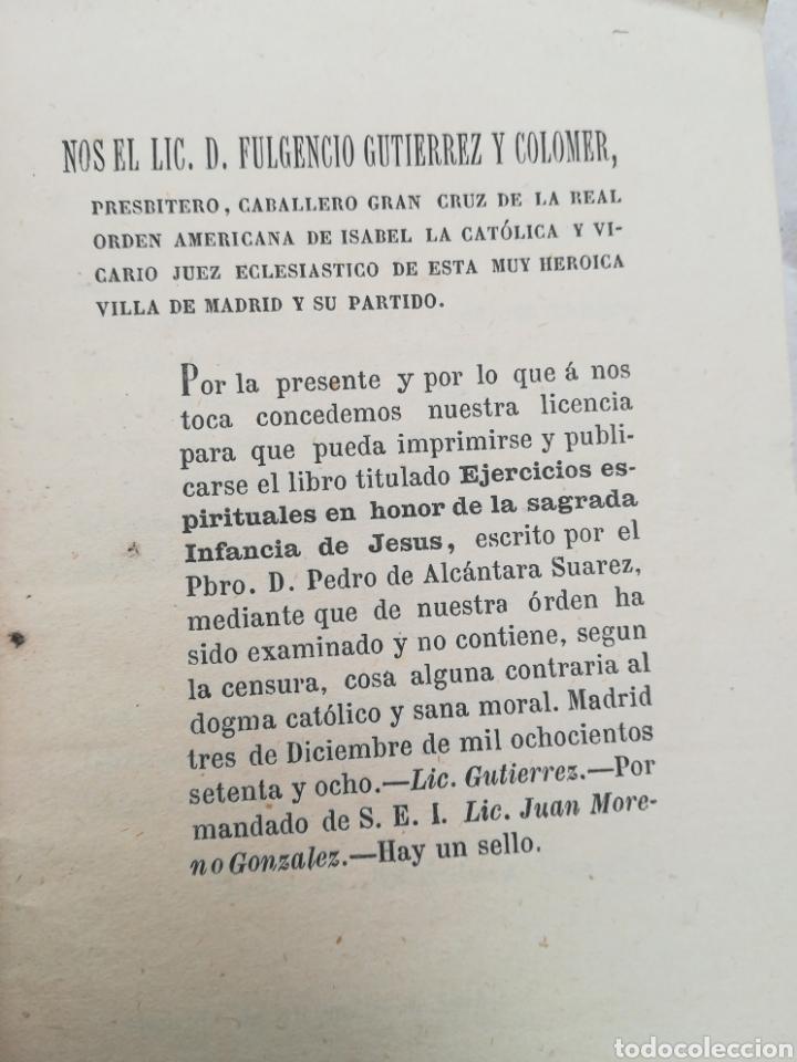 Libros antiguos: Ejercicios Espirituales en honor y obsequio de la Sagrada Infancia de Jesús por Pedro de Alcántara S - Foto 2 - 195379292