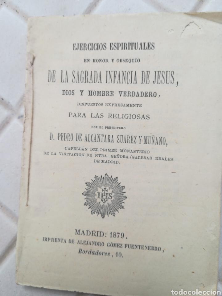 EJERCICIOS ESPIRITUALES EN HONOR Y OBSEQUIO DE LA SAGRADA INFANCIA DE JESÚS POR PEDRO DE ALCÁNTARA S (Libros Antiguos, Raros y Curiosos - Religión)