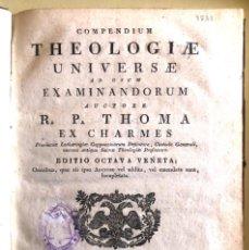 Libros antiguos: COMPENDIO TEOLOGIA UNIVERSAL- THEOLOGIAE UNIVERSAE- R.P. THOMA- EX CHARMES- VENETIIS- 1.824. Lote 195388741
