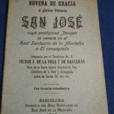 Libros antiguos: NOVENA DE GRACIA DE SAN JOSÉ POR VÍCTOR J DE LA VEGA Y DE BASCARAN DEAN DE LA CATEDRAL DE TUY 1919. Lote 195433246