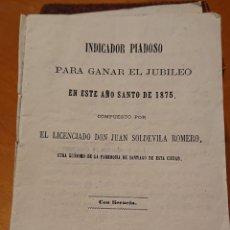 Libros antiguos: VALLADOLID 1875,NOVENA PARA GANAR EL JUBILEO,ORIGINAL Y RARA. Lote 195436858