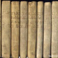Libros antiguos: TRICALET, PIERRE-JOSEPH. BIBLIOTHECA MANUALIS ECCLESIAE PATRUM. 9 VOLS. 1783.. Lote 195466263