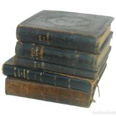 Libros antiguos: 1874 - LOTE DE 5 LIBROS ANTIGUOS DE RELIGIÓN - ESPIRITUALIDAD - ENCUADERNACIONES EN PIEL. Lote 195482957