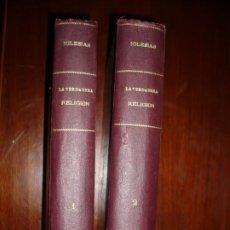 Libros antiguos: LA VERDADERA RELIGION PUEBLO HEBREO EPIFANIO DIAZ IGLESIAS CASTAÑEDA 1850 MADRID T-- I-II . Lote 196557096
