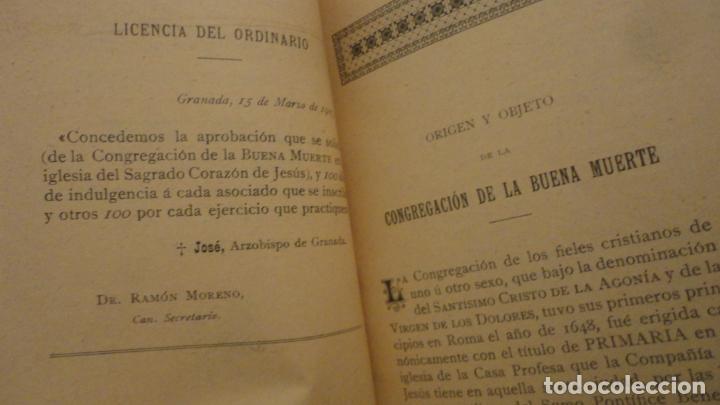 Libros antiguos: CONGREGACION CRISTO DE LA AGONIA O BUENA MUERTE.IGLESIA SAGRADO CORAZON DE GRANADA. BILBAO 1907 - Foto 3 - 196575102