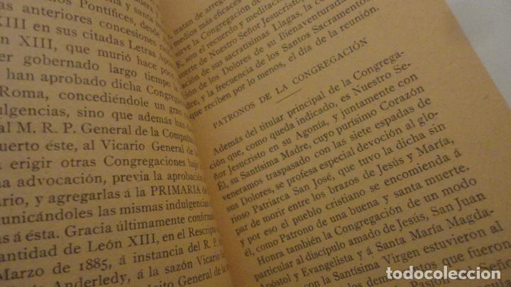 Libros antiguos: CONGREGACION CRISTO DE LA AGONIA O BUENA MUERTE.IGLESIA SAGRADO CORAZON DE GRANADA. BILBAO 1907 - Foto 4 - 196575102