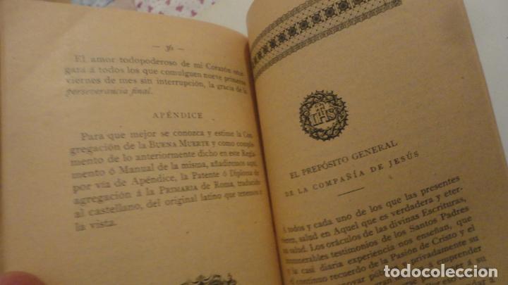 Libros antiguos: CONGREGACION CRISTO DE LA AGONIA O BUENA MUERTE.IGLESIA SAGRADO CORAZON DE GRANADA. BILBAO 1907 - Foto 5 - 196575102