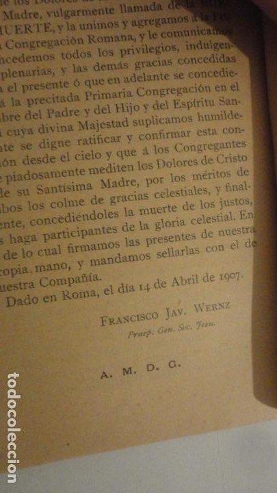 Libros antiguos: CONGREGACION CRISTO DE LA AGONIA O BUENA MUERTE.IGLESIA SAGRADO CORAZON DE GRANADA. BILBAO 1907 - Foto 6 - 196575102