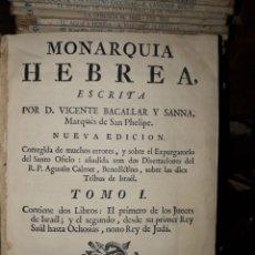 Libros antiguos: MONARQUIA HEBREA AÑO 1771. Lote 197027560