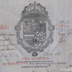 Livros antigos: LIBRERIA GHOTICA. FRAY LUIS DE GRANADA.MEMORIAL DE LA VIDA CHRISTIANA.1674. FOLIO. MÍSTICA.. Lote 197147660