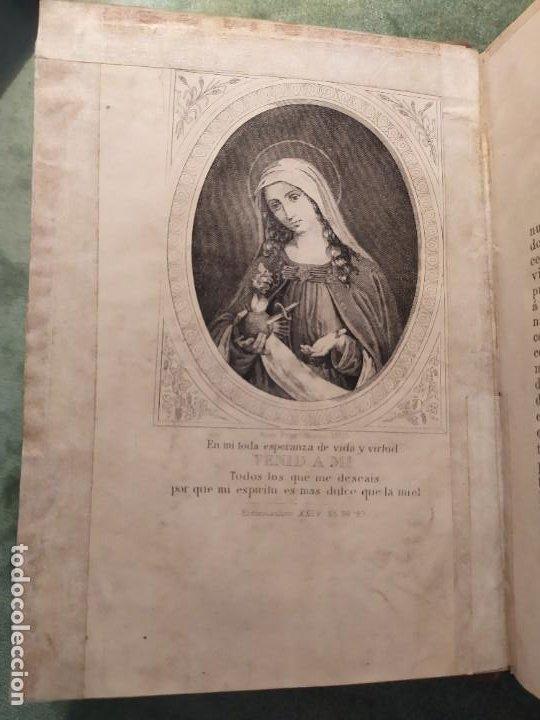 Libros antiguos: 1866. Tesoros del amor virginal en el corazón de la madre de Dios. Obispo de la Habana. - Foto 2 - 199046780