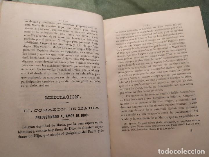 Libros antiguos: 1866. Tesoros del amor virginal en el corazón de la madre de Dios. Obispo de la Habana. - Foto 7 - 199046780
