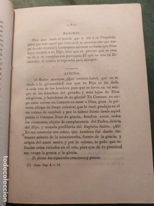 Libros antiguos: 1866. Tesoros del amor virginal en el corazón de la madre de Dios. Obispo de la Habana. - Foto 8 - 199046780