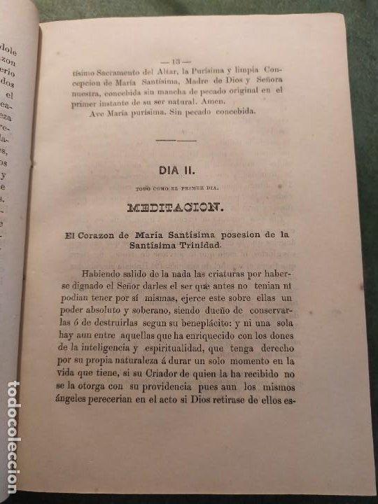 Libros antiguos: 1866. Tesoros del amor virginal en el corazón de la madre de Dios. Obispo de la Habana. - Foto 9 - 199046780