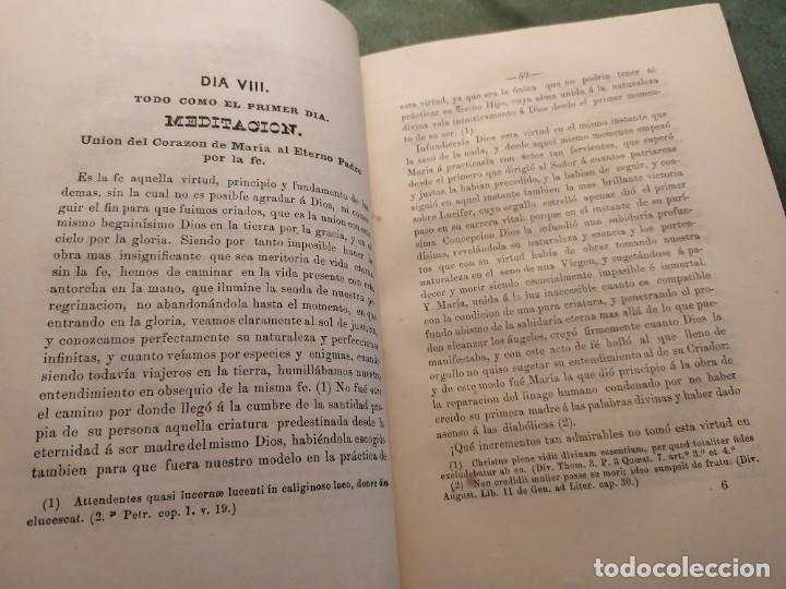 Libros antiguos: 1866. Tesoros del amor virginal en el corazón de la madre de Dios. Obispo de la Habana. - Foto 10 - 199046780