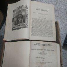 Libros antiguos: AÑO CRISTIANO. PORTO. PORTUGAL 1885 2 TOMOS CIENTOS DE LAMINAS GRABADAS. Lote 199459841