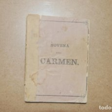 Libros antiguos: NOVENA DEL CARMEN. LIBRERÍA GADITANA. CÁDIZ.. Lote 199745203