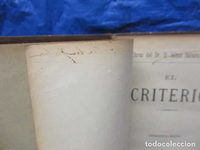 Libros antiguos: EL CRITERIO - JAIME BALMES - 1908 - Foto 4 - 199759412