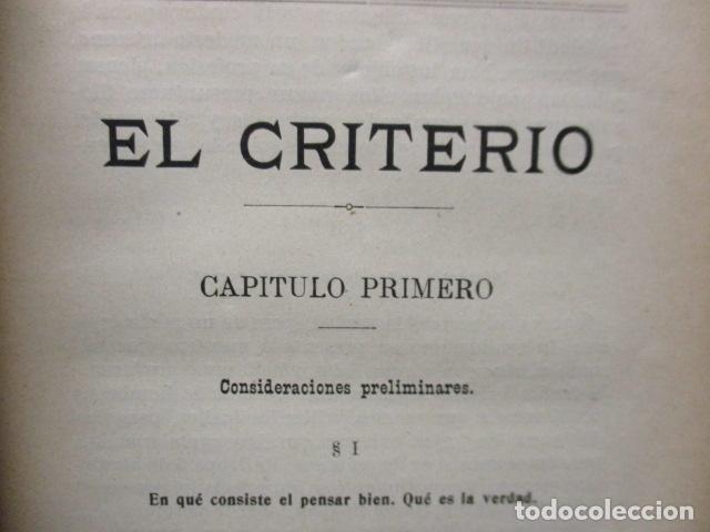 Libros antiguos: EL CRITERIO - JAIME BALMES - 1908 - Foto 13 - 199759412
