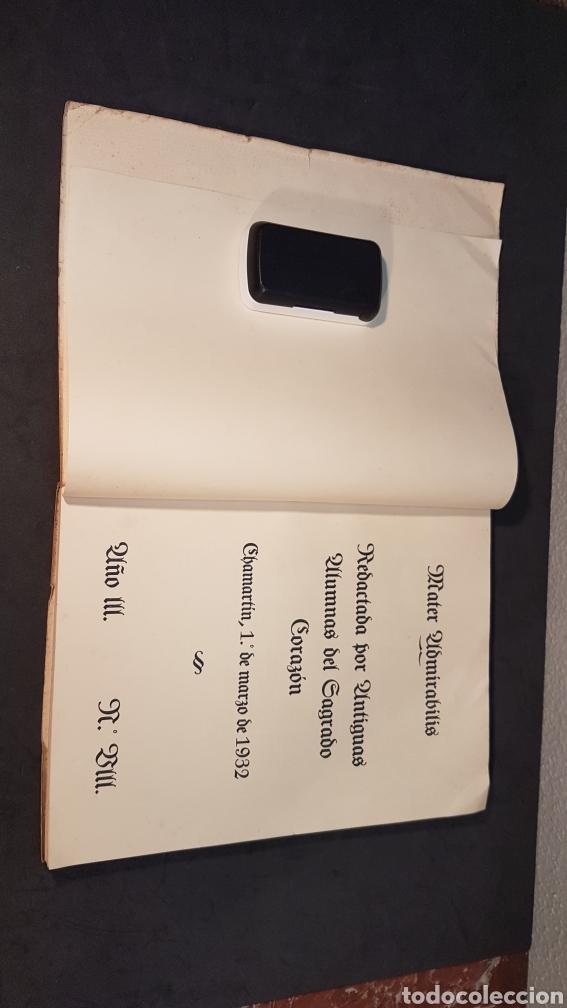 Libros antiguos: MATER ADMIRABILIS. AÑO 1932. SAGRADO CORAZÓN. CHAMARTÍN. - Foto 2 - 199922827