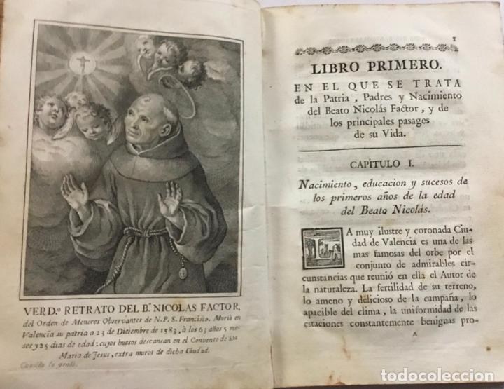 Libros antiguos: VIDA DEL B. NICOLÁS FACTOR HIJO DE LA PROVINCIA DE MENORES OBSERVANTES DE N. P. S. FRANCISCO DE VALE - Foto 2 - 123177423