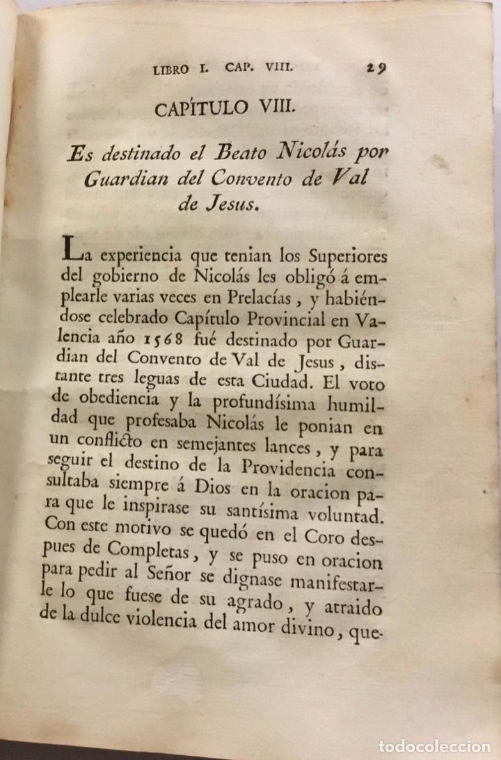 Libros antiguos: VIDA DEL B. NICOLÁS FACTOR HIJO DE LA PROVINCIA DE MENORES OBSERVANTES DE N. P. S. FRANCISCO DE VALE - Foto 3 - 123177423