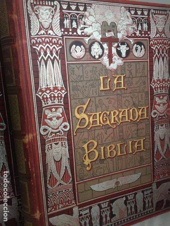 Libros antiguos: LA SAGRADA BIBLIA 1883 Montaner y Simón, edición de lujo 4 tomos. Ilustrada Laminas Gustavo Doré - Foto 2 - 201155431