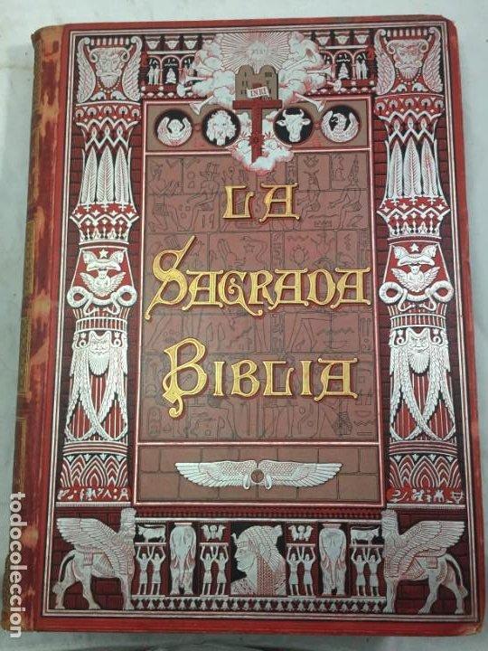 Libros antiguos: LA SAGRADA BIBLIA 1883 Montaner y Simón, edición de lujo 4 tomos. Ilustrada Laminas Gustavo Doré - Foto 4 - 201155431