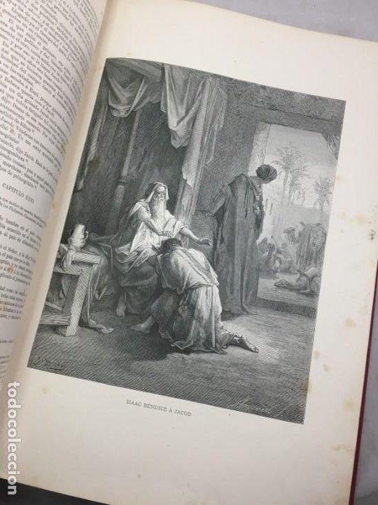 Libros antiguos: LA SAGRADA BIBLIA 1883 Montaner y Simón, edición de lujo 4 tomos. Ilustrada Laminas Gustavo Doré - Foto 9 - 201155431