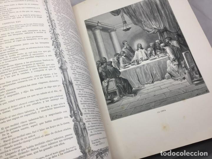 Libros antiguos: LA SAGRADA BIBLIA 1883 Montaner y Simón, edición de lujo 4 tomos. Ilustrada Laminas Gustavo Doré - Foto 43 - 201155431